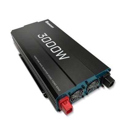 3000-Watt Solar 12-Volt Pure Sine Wave Off Grid Battery Inverter with USB Port