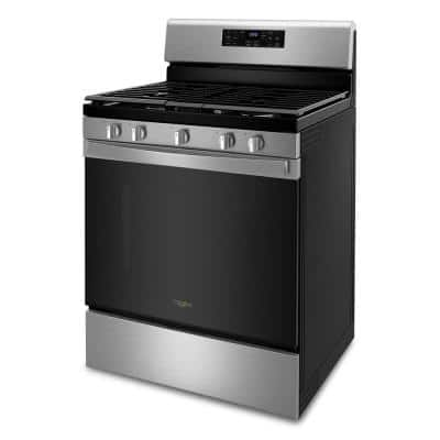 5 cu. ft. Gas Range with Air Fry Oven in Stainless Steel