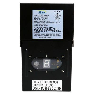 Outdoor 200-Watt Transformer with Photo Cell and Timer for Ponds and Fountains