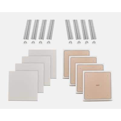 24 in. W x 24 in. L x 1 in. H Stone Fabric Absorption Plus Diffusion Panels Small Panel Booster Kit (Pack of 8)