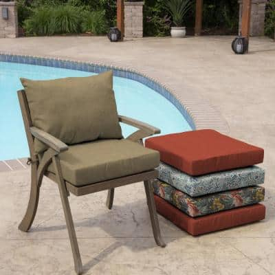 21 in. x 17 in. 2-Piece Deep Seating Outdoor Lounge Chair Cushion in Tan Hamilton Texture