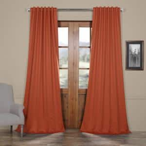 Navajo Rust Rod Pocket Blackout Curtain - 50 in. W x 84 in. L