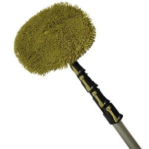 7 ft. to 30 ft. Extension Pole and Wall Duster Chenille Microfiber Cleaning Head + Telescoping Extension Pole