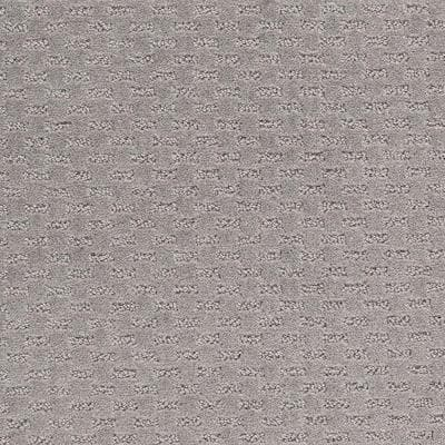 8 in. x 8 in. Pattern Carpet Sample - Quiet Reflection -Color Grey Flannel