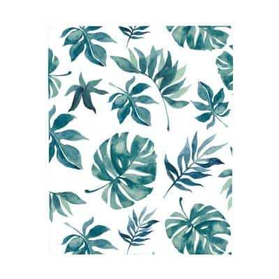Super Soft Green and White Palm Leaf Polyester Nursery Crib Fitted Sheet
