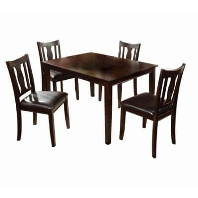 Northvale I Espresso Transitional Style Dining Table Set (5-Piece)