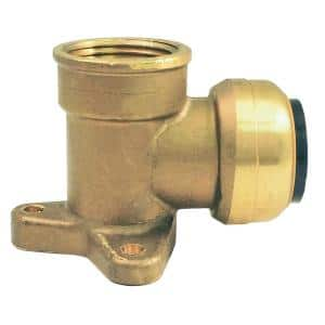 1/2 in. Brass 90 Deg. Push-to-Connect x Female Pipe Thread Drop Ear Elbow