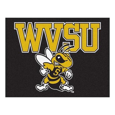 NCAA West Virginia State University Black 3 ft. x 4 ft. Area Rug