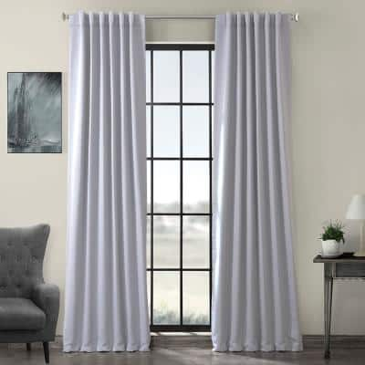 Fog Grey Rod Pocket Blackout Curtain - 50 in. W x 84 in. L
