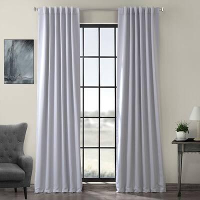 Fog Grey Rod Pocket Blackout Curtain - 50 in. W x 96 in. L