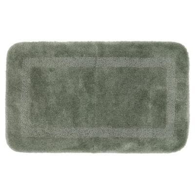 Facet Celadon 20 in. x 34 in. Nylon Machine Washable Bath Mat