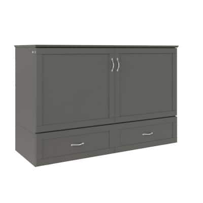 Hamilton Murphy Bed Chest Queen Grey with Charging Station