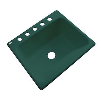 Kensington Drop-In Acrylic 25 in. 5-Hole Single Bowl Utility Sink in Rain Forest