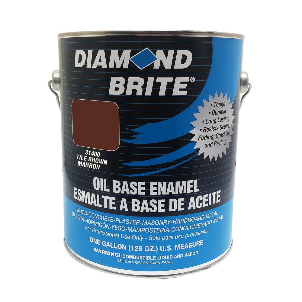 1 gal. Tile Brown Oil Base Enamel Interior/Exterior Paint