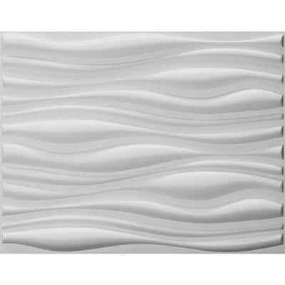 Falkirk Fifer 31 in. x 25 in. Paintable Off White Abstract Dune Fiber Decorative Wall Paneling (10-Pack)