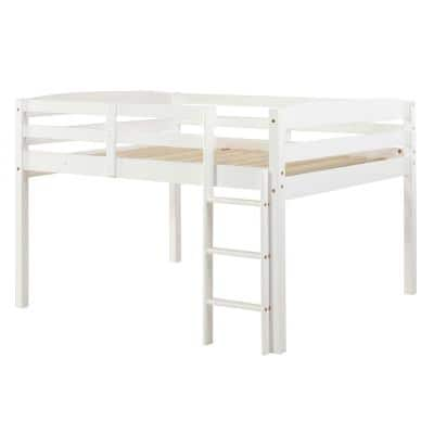 Camaflexi Tribeca White Full Size Junior Loft Bed T1303f The Home Depot