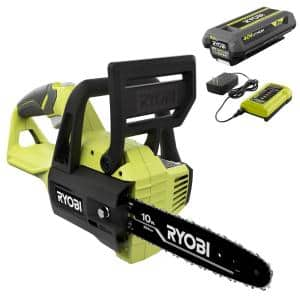 40V 10 in. Cordless Battery Chainsaw with 2.0 Ah Battery and Charger