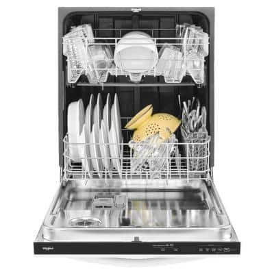 24 in. White Top Control Built-In Tall Tub Dishwasher with Fan Dry, 51 dBA
