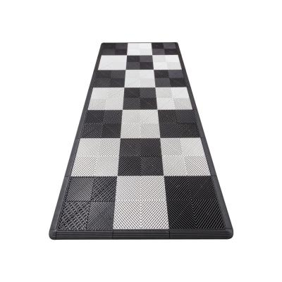 4.3 ft. x 9.6 ft. Black and Silver Checkered Moto Pad Kit - ECO
