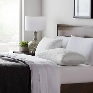 Fiber and Shredded Standard Foam Pillow with Zippered Inner Cover (2-Pack)