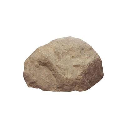 18 in. x 23 in. x 13 in. Fiberlite Medium Imitation Tan Landscape Rock