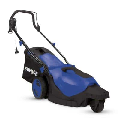 16 in. 12 Amp 360 Degree 3-Wheel Corded Electric Walk-Behind Push Lawn Mower, Blue