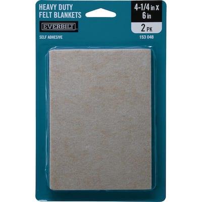 4-1/4 in. x 6 in. Heavy-Duty Self-Adhesive Felt Blankets (2 per Pack)
