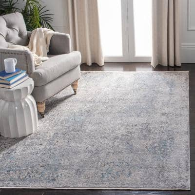Dream Gray/Ivory 5 ft. x 8 ft. Abstract Area Rug