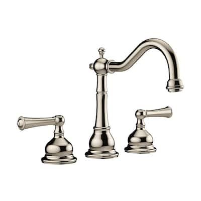 BARREA 2-Handle Deck-Mount Roman Tub Faucet in Polished Nickel