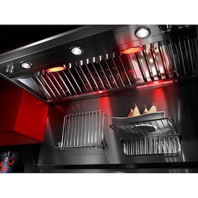 48 in. Backguard with Shelf in Black Stainless Steel