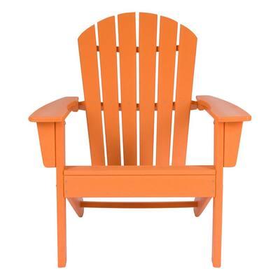 Tangerine Seaside Plastic Adirondack Chair