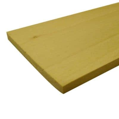 1/2 in. x 3 in. x 3 ft. S4S Poplar Board