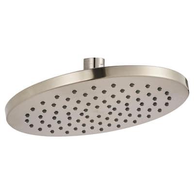 Studio 1-Spray 8 in. Single Wall Mount Fixed Shower Head in Brushed Nickel