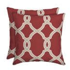 Jeanette Trellis Square Outdoor Throw Pillow (2-Pack)