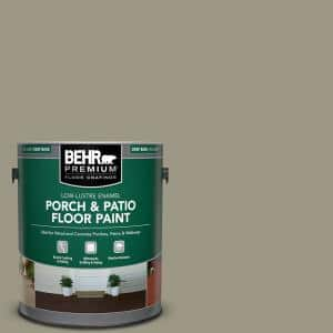 1 gal. #PPU8-20 Dusty Olive Low-Lustre Enamel Interior/Exterior Porch and Patio Floor Paint