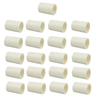 1/2 in. CPVC-CTS Slip x Slip Coupling Fitting Pro Pack (25-Pack)