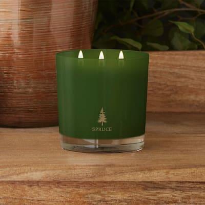 3-Wick Beige Spruce Scented Jar Candle