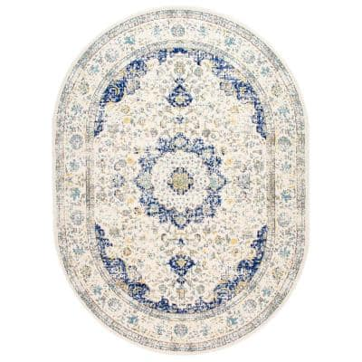 Verona Vintage Persian Blue 5 ft. x 8 ft. Oval Rug
