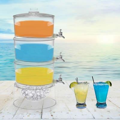 2.6 Gal. BPA-Free Plastic 3-Tier Beverage Dispenser