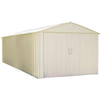 Commander 10 ft. W x 20 ft. D White Hot-Dipped Galvanized Metal Storage Shed