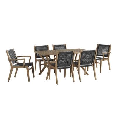 Quinn II 7-Piece Wood Outdoor Dining Set