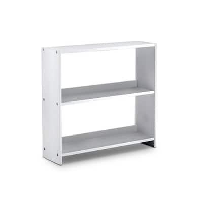 Bradford 27.5 in. Height White Wood 3-Shelf Bookshelf
