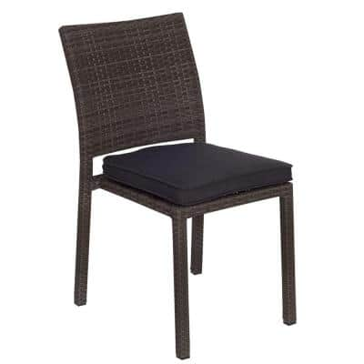 Liberty Grey Patio Dining Chair with Grey Cushion (4-Pack)