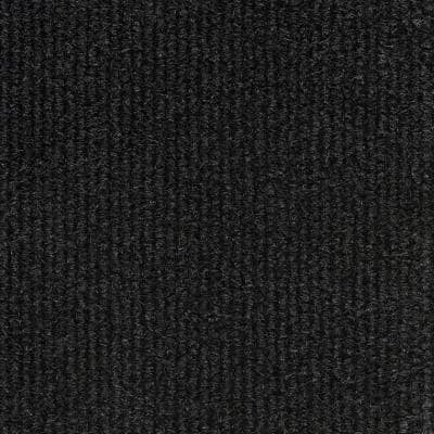 Black Fabric Non-Pasted Moisture Resistant Wallpaper Roll (Covers 108 Sq. Ft.)