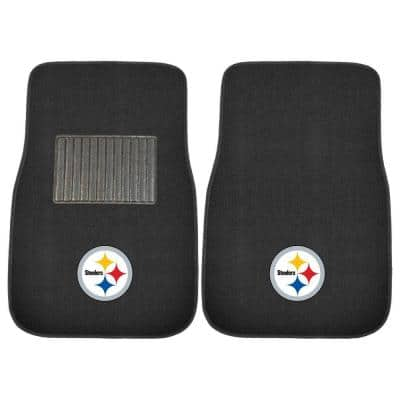 NFL Pittsburgh Steelers 2-Piece 17 in. x 25.5 in. Carpet Embroidered Car Mat