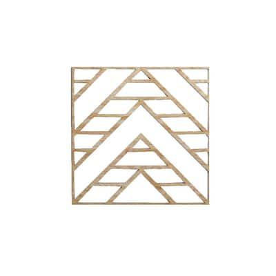 "15-3/8"" x 15-3/8"" x 1/4"" Medium Gilcrest Decorative Fretwork Wood Wall Panels, Red Oak (20-Pack)"