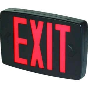 Quantum Black Thermoplastic LED Emergency Exit Sign