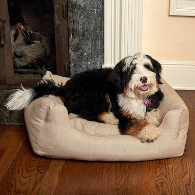 Willow Small Beige Olefin Cuddler Pet Bed