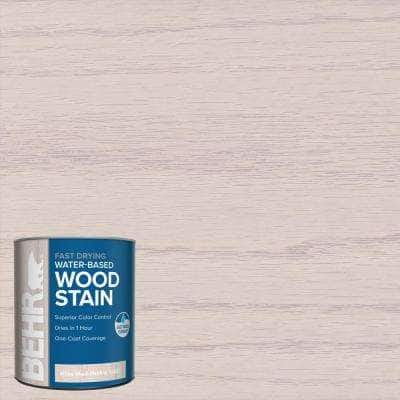 1 qt. #TIS-580 White Wash Pickling Transparent Water-Based Fast Drying Interior Wood Stain