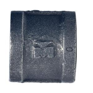 1/2 in. Black Malleable Iron FPT x FPT Coupling